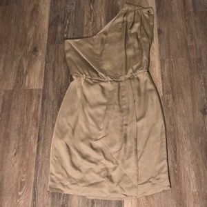 NWT French Connection Ella Drape Asymmetric Dress